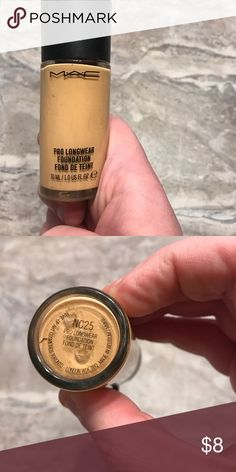 MAC pro long wear foundation NC25 40% full. Pro long wear foundation in NC25 MAC Cosmetics Makeup Foundation