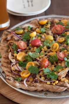Grilled BBQ Chicken Pizza | What's Gaby Cooking