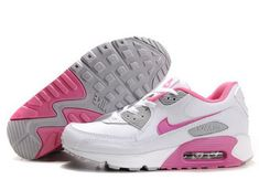 8ca21e92602a Nike Air Max 90 Womenss Shoes Wholesale White Pink Gray Factory Store