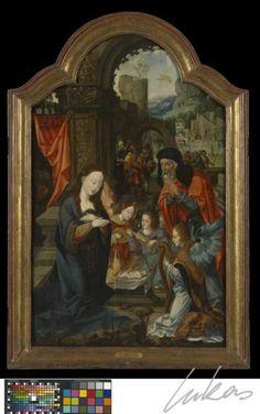 Triptiek De boodschap van de engel aan Maria De geboorte van Jezus De vlucht naar Egypte   Lukas