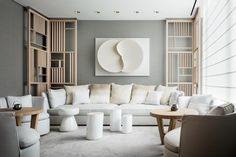 Design firm Yabu Pushelberg has completed the interiors for the Four Seasons hotel in Downtown Manhattan, using soft colours in the guest rooms.