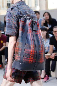 Louis Vuitton Killed it!  Plaid and backpack trend yet timeless