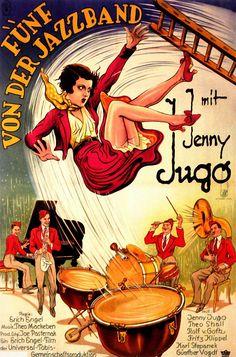 Filmplakat, Fünf von der Jazzband 1932.