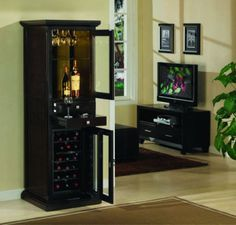 wine cabinet- totally want to turn my old dresser into this mmmm