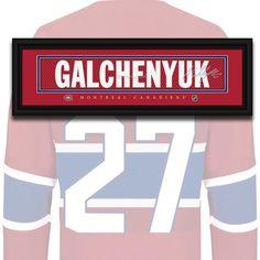 Montreal Canadiens - Alex Galchenyuk - NHL Jersey Name Print