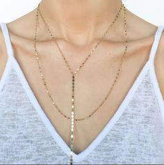 Lana Jewelry Nude Lariat Disc Necklace MsLEGLa