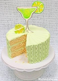 Moist and Delicious Margarita Cake- A Doctored Cake Mix recipe! You'll LOVE this flavorful lemon and lime cake frosted in Tequila Lime Buttercream! Perfect for Cinco de Mayo and summertime entertaining! Margarita Cupcakes, Lime Cupcakes, Lime Cake, Margarita Recipes, Margarita Party, Box Cake Recipes, Cake Filling Recipes, Cake Flavors, Lime Desserts
