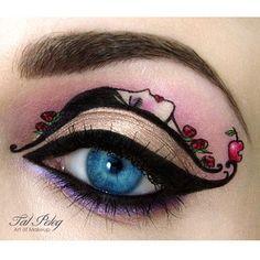 Cette scène romantique. | 21 exemples de maquillage absolument époustouflants
