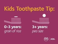 How much toothpaste your child should be using. #dfcadent #toothpaste #kids #dentistry