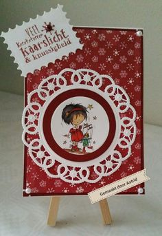 crea-scrap-card: Rood/wit pop up kerstkaart