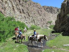 Riding through Taylor Creek Canyon at Geronimo Trail Guest Ranch, Winston, New Mexico. Dude Ranch Vacations, Dream Vacations, Family Vacations, Us Travel, Places To Travel, New Mexico Vacation, Guest Ranch, Land Of Enchantment, Go Hiking