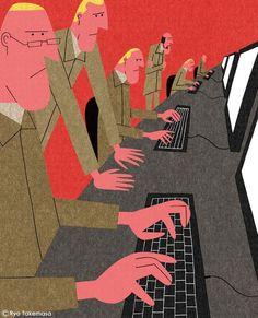 Image result for editorial illustration computer