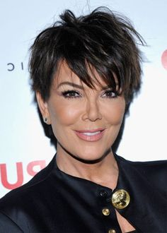 Short Pixie Cut Hairstyles Women's Straight Human Hair Wigs With Bangs Lace Front Wigs Haircut For Thick Hair, Short Hair With Bangs, Wigs With Bangs, Pixie Haircut, Short Hair Cuts, Short Hair Styles, Kris Jenner Haircut, Kris Jenner Hairstyles, Pixie Cut