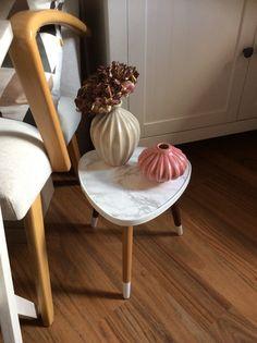 DIY: 50er Jahre Blumentischchen mit Farbe und Marmorfolie aufgepeppt.  * Marmor - Marble * ❤️
