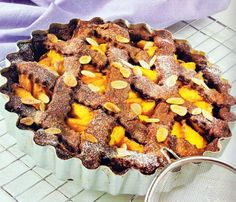 Peach Pie with Chocolate Almond Crust Recipe * You can find more recipe details by visiting the image link.