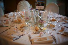 Déco et papeterie de notre mariage orthodoxe grec : la déco de table