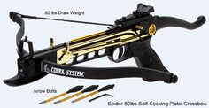 Spider 80lbs Self-Cocking Pistol Crossbow