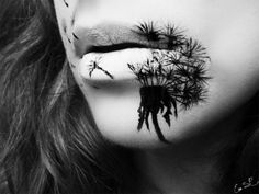 A masterpiece by Eva Senin Pernas!!   #makeup #halloween #lips