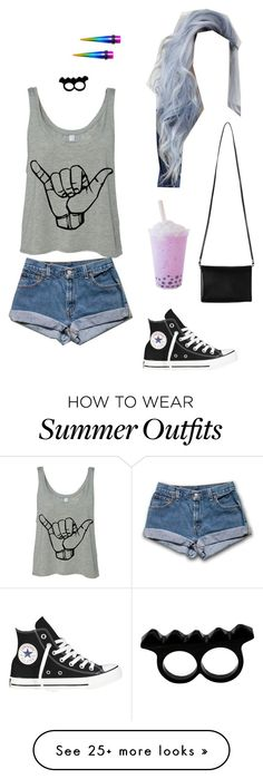 """""""Untitled #5478"""" by northamster on Polyvore featuring Converse, Monki and L'Artisan Créateur"""