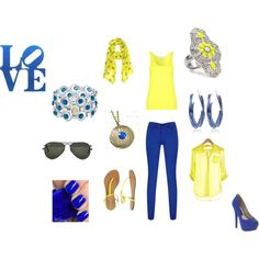 LOVE. BLUE., created by ginniemontoya on Polyvore