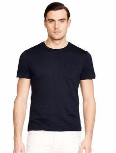 Ralph Lauren Black Label Men Slim Fit Pocket T-Shirt Size S Dark Blue NWT $85.00 #RalphLauren #BasicTee