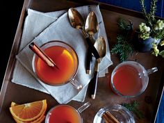 We spiked this punch with dark rum, but it's equally nice with bourbon. Or omit the bourbon altogether for an alcohol-free version of...