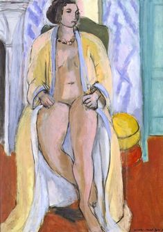 Henri Matisse (Fr. 1869-1954) Nude in peignoir (1933) Oil on canvas (65 × 46 cm) not overly delighted …