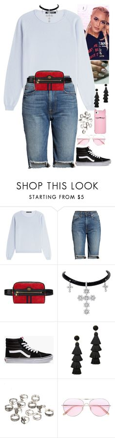"""""""Untitled #1355"""" by fatyhnrqz94 ❤ liked on Polyvore featuring IRIS VON ARNIM, Good American, Gucci, Vans, BaubleBar, Oliver Peoples and Kate Spade"""