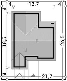 Projekt domu Ambrozja 2A garaż 135,3 m2 - koszt budowy - EXTRADOM Floor Plans, Floor Plan Drawing, House Floor Plans
