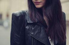Leather jacket love.