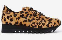 NIB $135 Jeffrey Campbell Bruce Pony Hair Leopard Sneaker (US 5.5 - 6 )