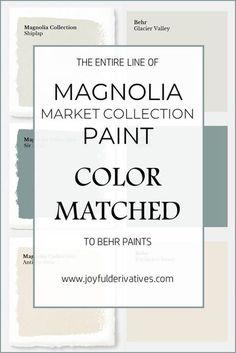 9eef92e206e5 Magnolia Market Collection Paints Color Matched to Behr