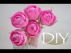 Маленькие розы из бумаги DIY Tsvoric - YouTube
