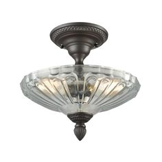 Elk Lighting Restoration Flushes Oil Rubbed Bronze Semi-Flushmount Light | 66392-3 | Destination Lighting