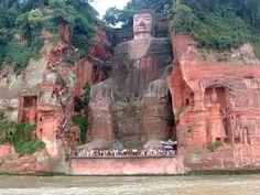 Leshan Buddha Statue View - Großer Buddha von Leshan – Wikipedia