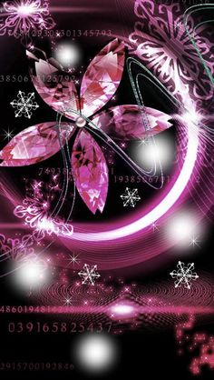 Jewel flower or snowflake(pink) Gothic Wallpaper, Glitter Wallpaper, Cute Wallpaper Backgrounds, Pink Wallpaper, Flower Wallpaper, Cute Wallpapers, Iphone Wallpaper, Motion Wallpapers, Aesthetic Wallpapers