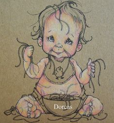 Dorcas Designs: Coloring Skin on Kraft with Lyra Rembrant Pencils