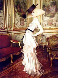 editorial de moda da vogue por grace coddington com rachel zimmerman