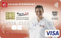 Envie d'avoir une carte bancaire à l'effigie de Marion Buisson ? Rendez-vous sur www.caisse-epargne.fr/EspritJO pour la commander ou adressez-vous directement à votre conseiller !