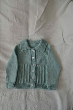 Green Collared Cardigan, Toddler Collared Cardigan, duck egg cardigan, Boys Sweater, Style 23, Made To Order, Your Choice Of Colour by BobtailsBoutique on Etsy