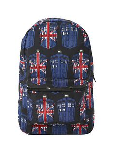 Doctor Who Tardis Union Jack Backpack Rucksack Bag, Jansport Backpack, Backpack Bags, Doctor Who Shop, Doctor Who Tardis, Printed Bags, Herschel Heritage Backpack, Union Jack, Dr Who