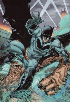 Batman vs Clayface by Brett Booth
