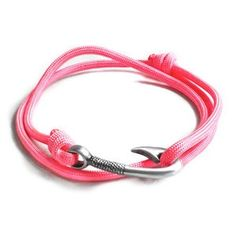 Fish hook bracelet... The hook is cool enough to make up for the fact that it's pink