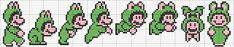 Frog Mario pattern. Great pattern to put on a towel or pillow case