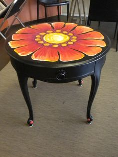 Orange Flower Table