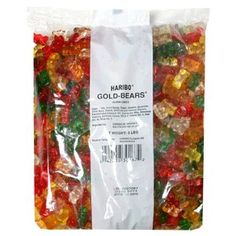 Haribo Gummi Candy Gold-Bears are naturally fruit flavored and come in a Bag. Gummi makes a colorful treat for the kids and they will love it. Haribo Gummi Candy Gold-Bears are the best GUMMI you will ever have! Drunken Gummy Bears, Haribo Gummy Bears, Haribo Gold Bears, Sugarless Gummy Bears, Bulk Candy, Candy Shop, Wedding Candy, Wedding Favours, Wedding Reception