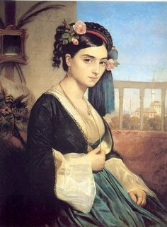 A Turkish Lady. Charles Gleyre. 1840.
