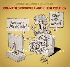#IoSeguoItalianComics #Satira #Renzi #antiterror #PlayStation