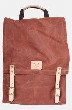 Will Leather Goods Waxed Canvas Backpack available at #Nordstrom