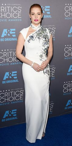 2015 Critics' Choice Movie Awards: Red Carpet Arrivals - Jessica Chastain from #InStyle
